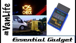 Vanlife Essential Gadget - OBD2 Fault code reader for your van, camper or motorhome - Review Iveco
