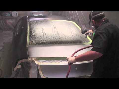 How to paint your car in the garage Color change part 8 spray