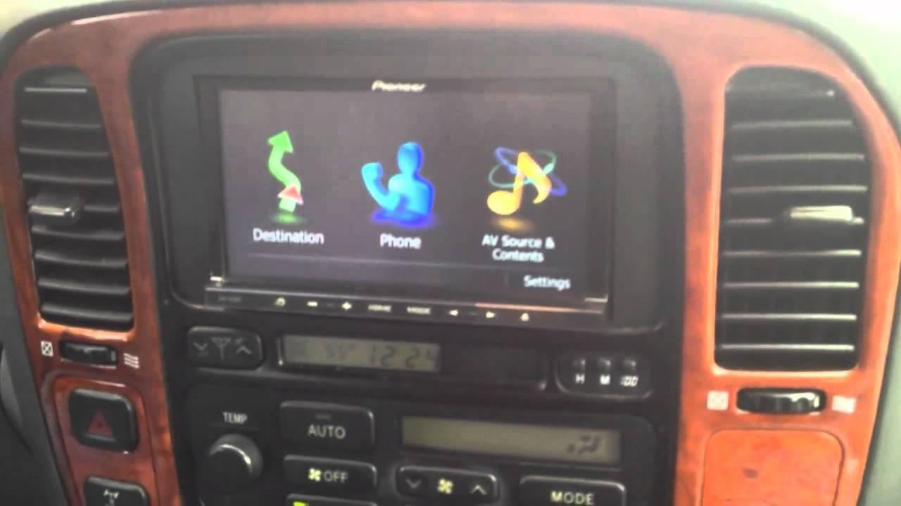 Lexus Lx 470 With Pioneer Avic Z130bt Youtube