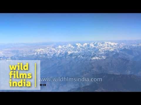Everest & Tibetan Plateau as seen aerially