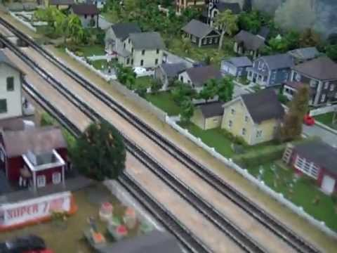 Great Ntrak City N Scale Model Railroad Bay Area California Video