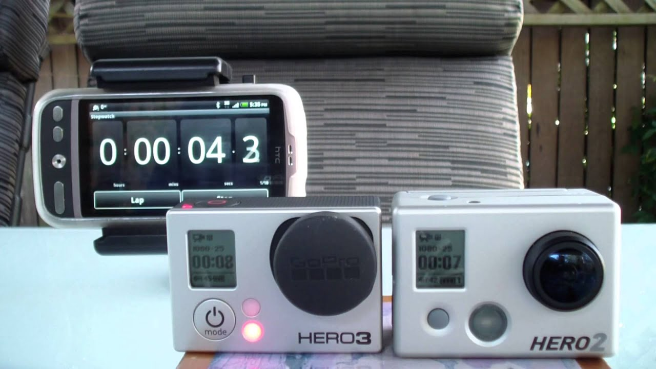 Gopro hero3 battery life side by side test against the gopro hero2