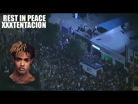 XXXTENTACION MEMORIAL TURNS INTO A RIOT IN LA! LONG LIVE X! thumbnail