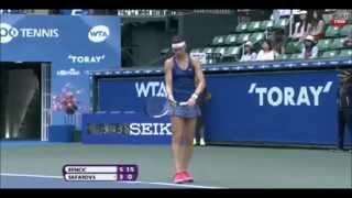 Belinda Bencic vs Lucie Safarova 2014 - Highlights - Toray Pan Pacific Open