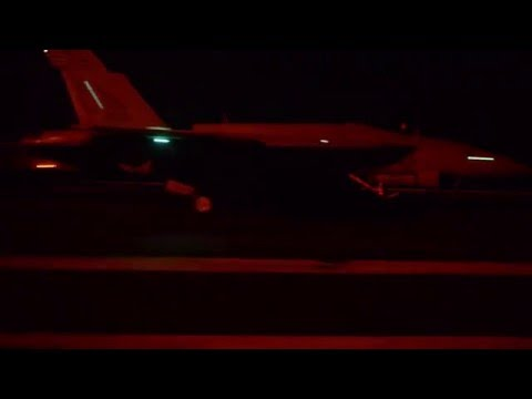 USS Harry S. Truman aircraft return following first strikes on ISIL