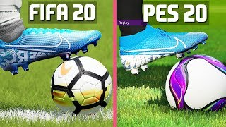 FIFA 20 VS PES 20 GRAPHICS COMPARISON