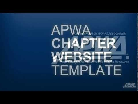 Introducing the New APWA Chapter Website Template