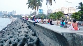 Marine Lines Charni Road Queen's Necklace & The Back Bay Sea During Day & Night Mumbai India [1080p]