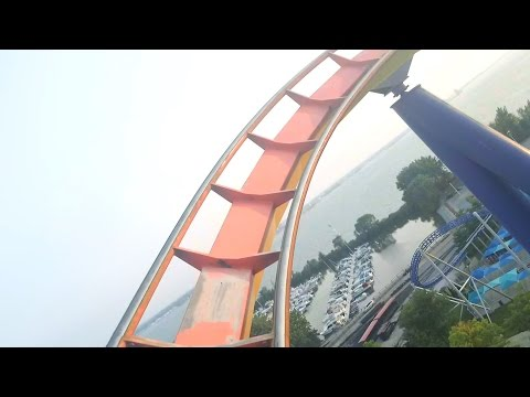 Mantis Front Seat POV Cedar Point B&M stand-up Roller Coaster