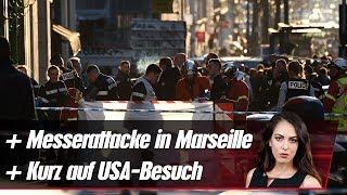 Kurz auf USA-Besuch  Messerangriff in Marseille