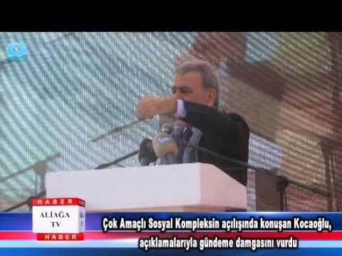 Çok Amaçlı Sosyal Kompleksin açılışında konuşan Kocaoğlu, açıklamalarıyla gündeme damgasını vurdu