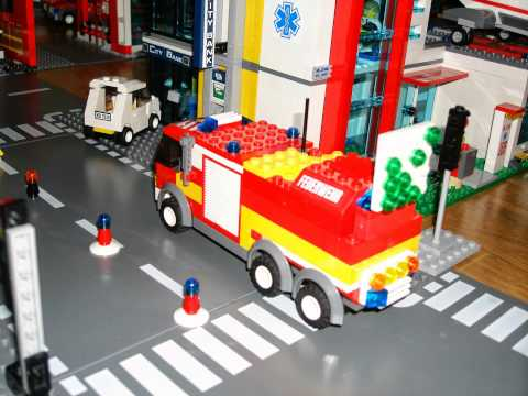 Camion de pompier lego city youtube - Lego city police camion ...