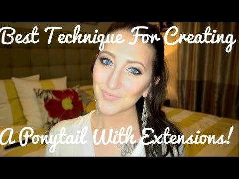 Best Ponytail Tutorial With Extensions - Especially For Short Hair!