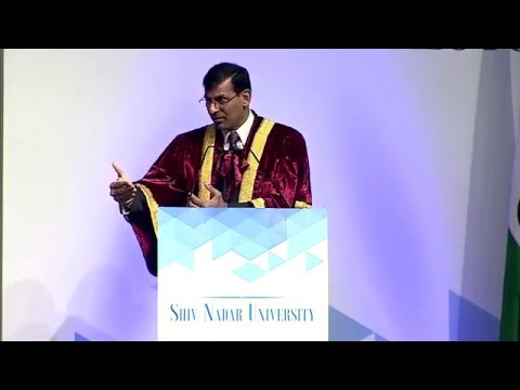 Dr. Raghuram Rajan at Shiv Nadar University Convocation