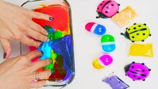 SLIME Bugs and Eggs Mix UP Amazing Color Result Satisfying Slime Channel