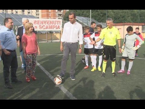 Napoli -  Torneo ''MundiaNapoli'', premiazione con Cannavaro e De Magistris (15.06.15)