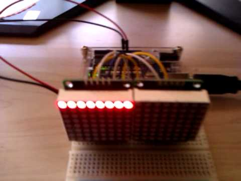 controlling a dual 8x8 matrix with onboard max7219 arduino uno