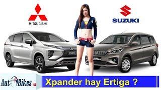 So sánh Suzuki Ertiga 2019 với Mitsubishi Xpander. Chọn xe đa dụng 7 chỗ nào?