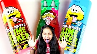 Extreme Sour Candy Taste Slime Licker WarHeads Toxic Waste|B2cutecupcakes