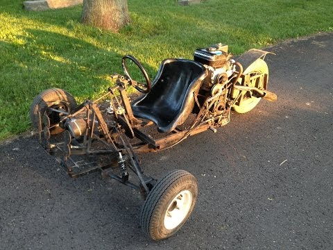 Homemade 3 Wheel Go-Cart (T-REX Car) 4 speed transmission