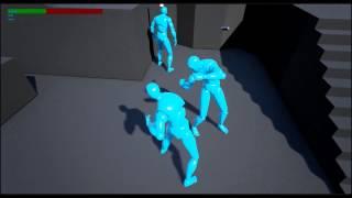 Unreal Engine 4 - Fight Mechanics - Kick, Block break, lock on system