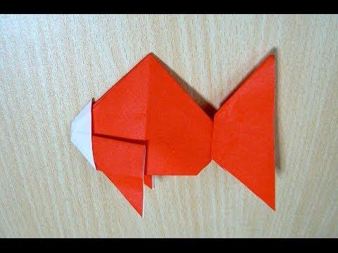 ศิลปะการพับกระดาษ ปลาทอง
