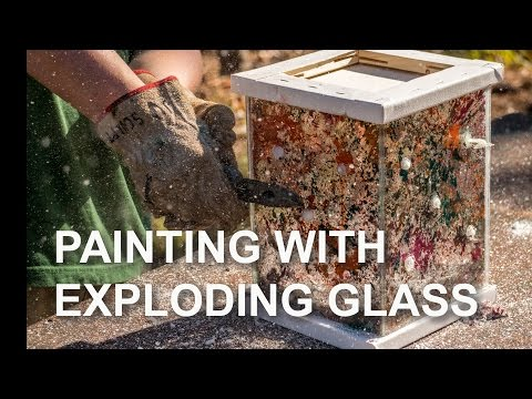 Painting with Exploding Glass (Prince Rupert's Drops)