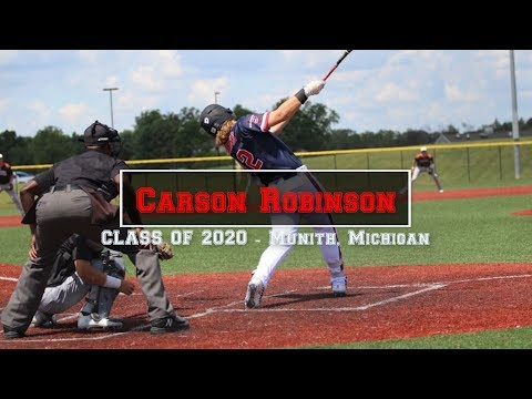 Carson Robinson - Baseball Highlights - Class of 2020 - Michigan