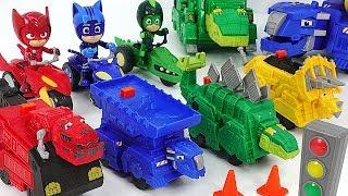 Dinotrux Power Trux Ty Rux, Dozer! Go! Run with PJ Masks Super Moon Adventure! #DuDuPopTOY