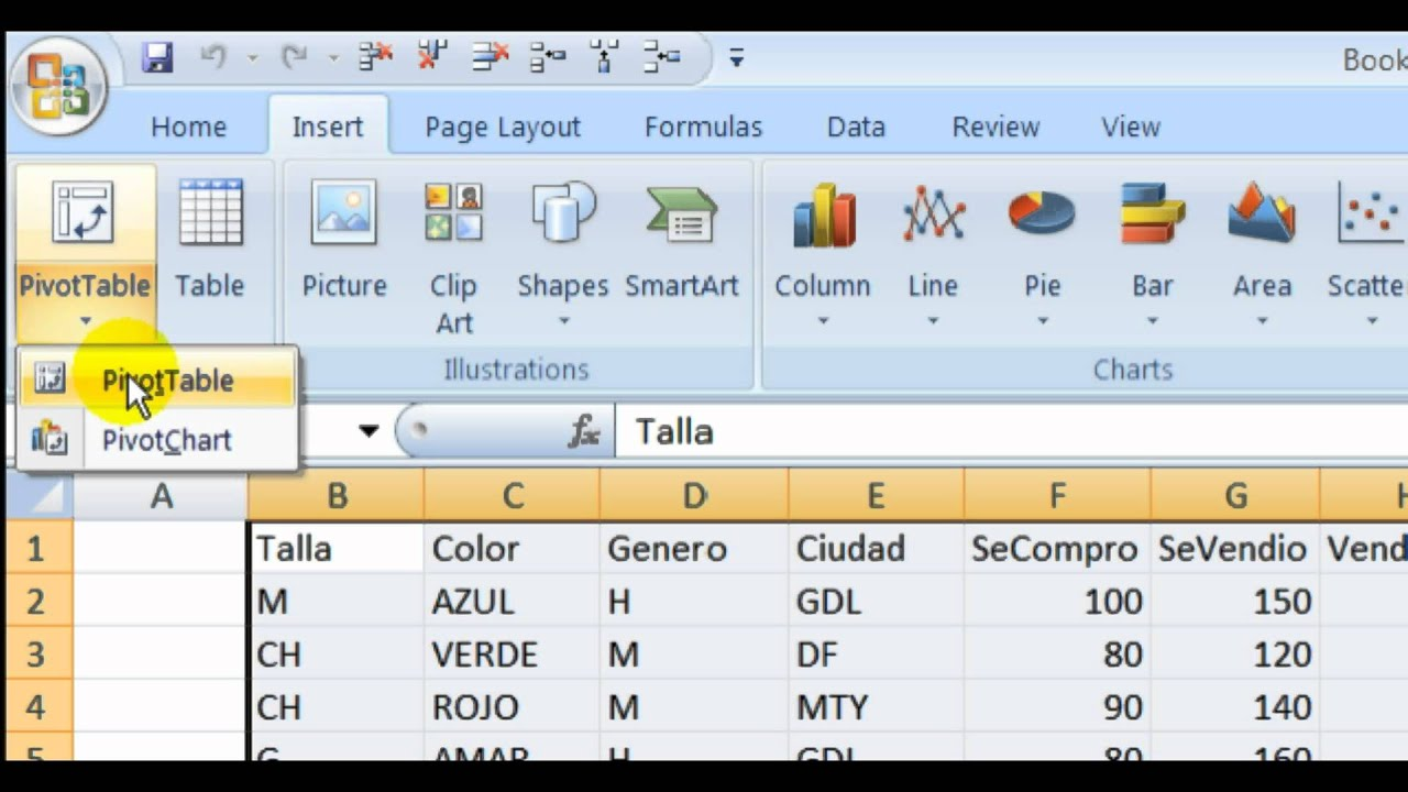 Tutorial Excel Tabla Pivote Youtube
