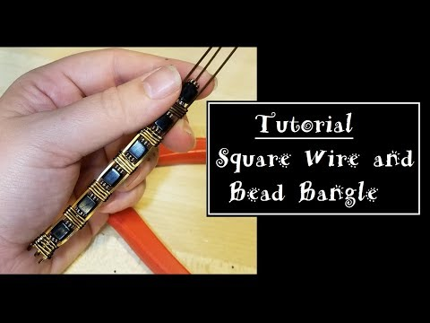 Squire Wire and Bead Bangle Tutorial