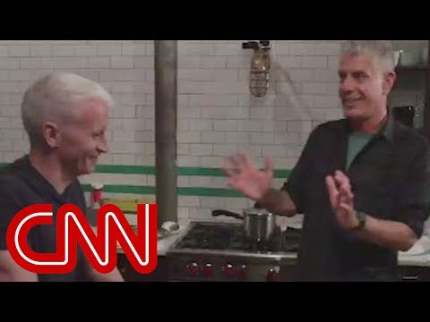 Anthony Bourdain Cooks Korean Food For Anderson Cooper video