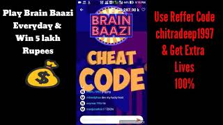 BRAIN BAAZI CHEAT CODE FOR 24TH APRIL AT 9:00 PM   CHEAT CODE   WIN 5 LAKH 💰   #Brainbaazi