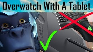 Overwatch GM TABLET Gameplay | Playing Uprising With A Wacom Tablet (NO Keyboard)