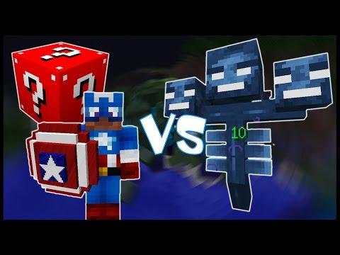 Красный Лаки Блок & Капитан Америка VS Иссушитель! - Лаки Битва #7