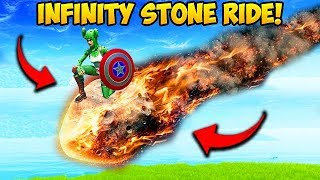 *RARE* RIDING A INFINITY STONE METEOR!! - Fortnite Funny Moments! #542