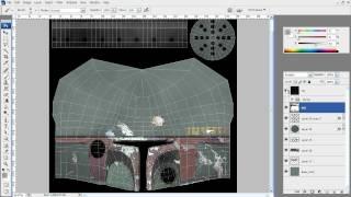 03. Текстурирование шлема в Autodesk Maya 2009 (Boba Fett Helmet)