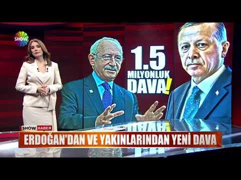 Erdoğan'dan ve yakınlarından yeni dava