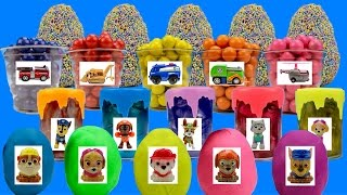 Paw Patrol Mashems in Slime - Pups in Surprise Playdoh Eggs