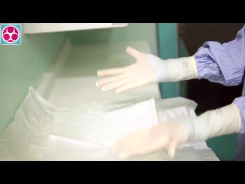 Calzado  de guantes estériles técnica cerrada
