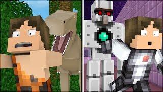 Minecraft: VIAJE NO TEMPO NO MINECRAFT! (PASSADO & FUTURO)