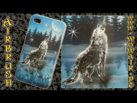 "No.391 Airbrush by Wow "" iPhone 4 Cover Wolf "" HD.mp4"