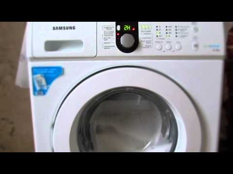 Demonstration / Test / review Washing machine Samsung WF1600WCW/YLP Eco Bubble