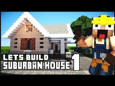 Minecraft House Tutorial: Suburban House - Part 1