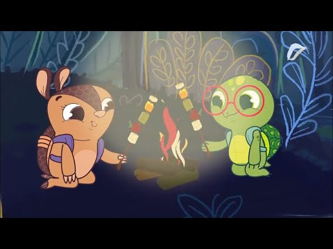 OPPA KÊKI - Eating Out Under A Campfire | Funny Cartoon for Kids | Cartoons for Children | WildBrain