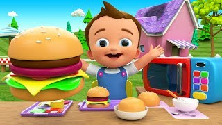 Making Burger DIY - Preschool Kids Toddlers Activities 3D Baby Kids Children Learning Educational