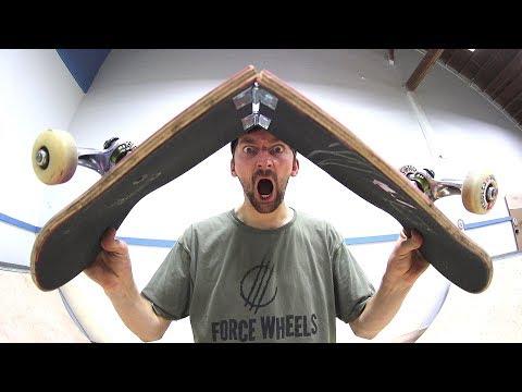 THE COLLAPSABLE DOOR HINGE SKATEBOARD!