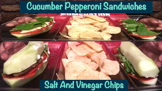 ASMR Cucumber Pepperoni Sandwiches | Salt And Vinegar Chips