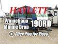 2018 Winnebago 190RD Minnie Drop Full Bath Rear Dinette Front Bed Teardrop Ultralite Travel Trailer