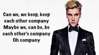 Justin Bieber - Company (Official Lyrics)